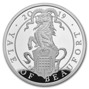 Stříbrná mince The Queen's Beasts Yale of Beaufort 1 oz proof 2019