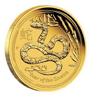 Zlatá mince Rok Hada 1 oz 2013