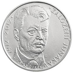 Stříbrná mince 100. výročí založení Junáka b.k.