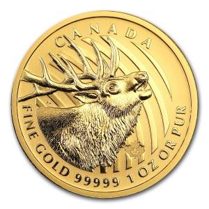 Zlatá mince Kanadský sob 1 oz 2017