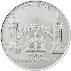 Stříbrná mince Zemská jubilejní výstava b.k.