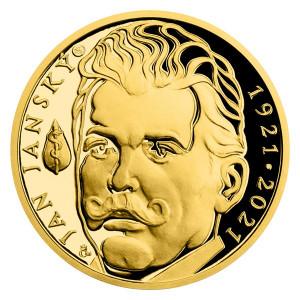 Zlatá medaile - Jan Janský 1/2 oz proof 2021