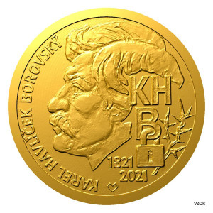 Zlatá medaile - Karel Havlíček Borovský 1/2 oz proof 2021
