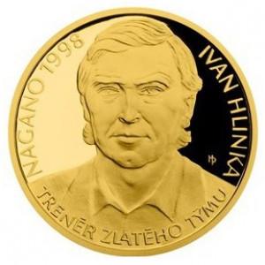 Zlatá mince Ivan Hlinka 1/2 oz proof 2018