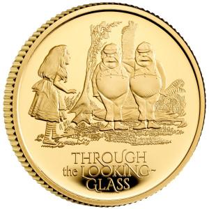 Zlatá mince Alenka v zemi za zrcadlem 1/4 oz proof 2021