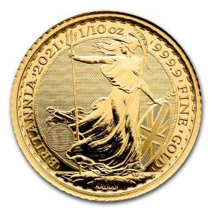 Zlatá mince Britannia 1/10 oz