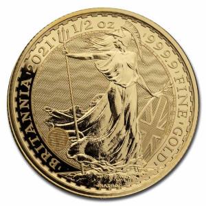 Zlatá mince Britannia 1/2 oz