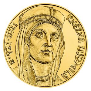 Zlatá mince Kněžna Ludmila 1 oz proof 2021