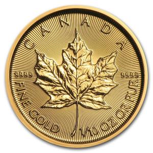Zlatá mince Maple Leaf 1/10 oz