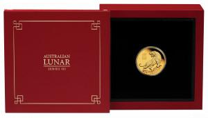 Zlatá mince Rok Tygra 1/10 oz proof 2022 Lunární série III