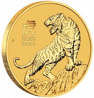 Zlatá mince Rok Tygra 1/2 oz BU 2022 Lunární série III