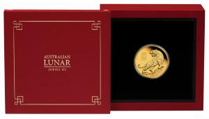 Zlatá mince Rok Tygra 1/4 oz proof 2022 Lunární série III