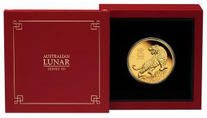 Zlatá mince Rok Tygra 1 oz proof 2022 Lunární série III