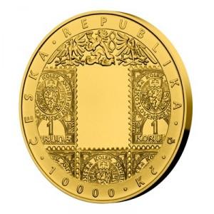 Zlatá mince Zavedení československé měny 1 oz proof 2019
