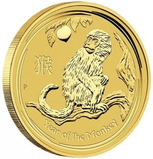 Zlatá mince Rok Opice 1 oz 2016 Lunární série II