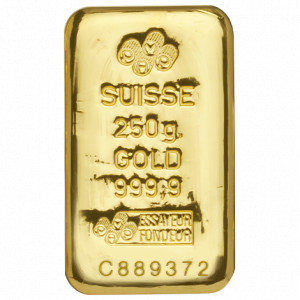 Zlatý investiční slitek 250 g PAMP (litý)