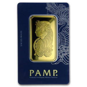 Zlatý investiční slitek 50 g PAMP