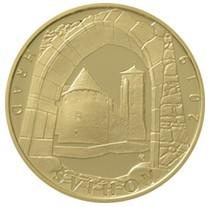 Zlatá mince hrad Švihov 1/2 oz proof 2019